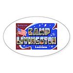 Camp Livingston Louisiana Oval Sticker