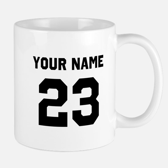 Customize sports jersey number Mug
