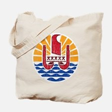 French Polynesia Coat Of Arms Tote Bag