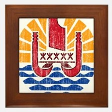 French Polynesia Coat Of Arms Framed Tile