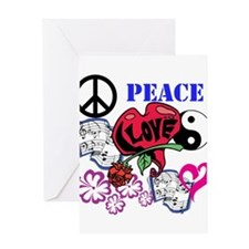 Hippies and Flower Power Greeting Card