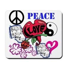 Hippies and Flower Power Mousepad