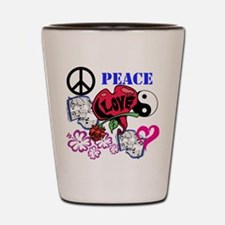 Hippies and Flower Power Shot Glass