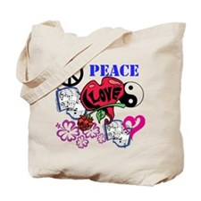 Hippies and Flower Power Tote Bag