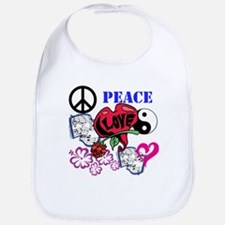 Hippies and Flower Power Bib