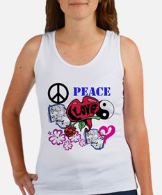Hippies and Flower Power Women's Tank Top