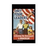 Obey Your Leaders Rectangular Sticker