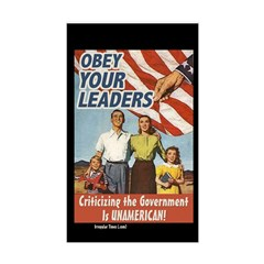 Obey Your Leaders Rectangular Decal