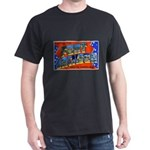Fort Jackson South Carolina (Front) Black T-Shirt