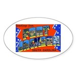 Fort Jackson South Carolina Oval Sticker