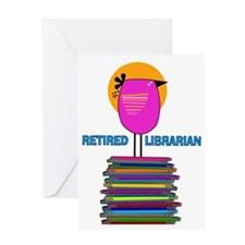 RETIRED LIBRARIAN BIRD 5.PNG Greeting Card