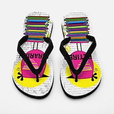 Retired Librarian Flip Flops