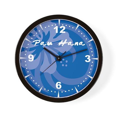 Pau Hana Wall Clock