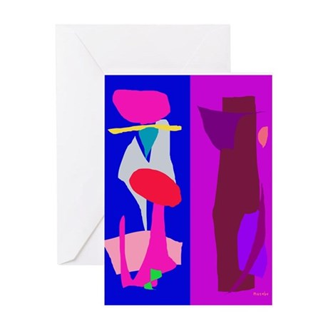 Two Imaginations Greeting Card