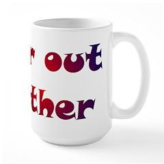Far Out Father Large Mug
