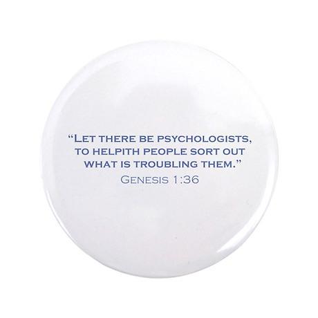 "Psychologists / Genesis 3.5"" Button"
