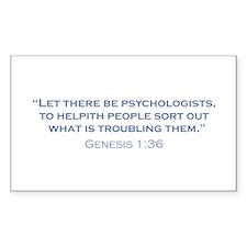 Psychologists / Genesis Decal
