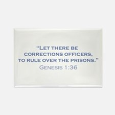 Corrections Officers / Genesis Rectangle Magnet