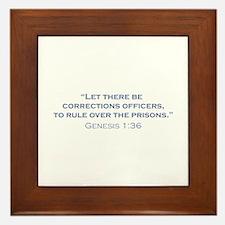 Corrections Officers / Genesis Framed Tile