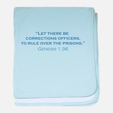 Corrections Officers / Genesis baby blanket
