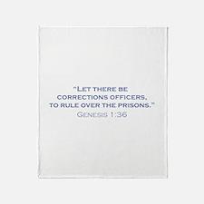 Corrections Officers / Genesis Throw Blanket