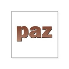 """Copper Spanish Peace Square Sticker 3"""" x 3"""""""
