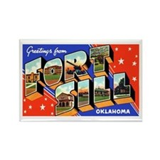Fort Sill Oklahoma Rectangle Magnet