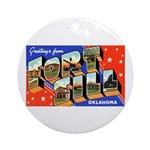 Fort Sill Oklahoma Ornament (Round)