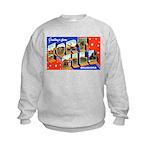 Fort Sill Oklahoma (Front) Kids Sweatshirt
