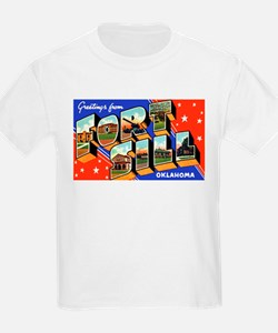 Fort Sill Oklahoma (Front) Kids T-Shirt