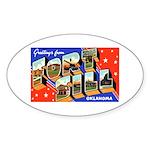Fort Sill Oklahoma Oval Sticker
