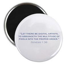 """Digital Artists / Genesis 2.25"""" Magnet (10 pack)"""