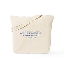 Janitors / Genesis Tote Bag