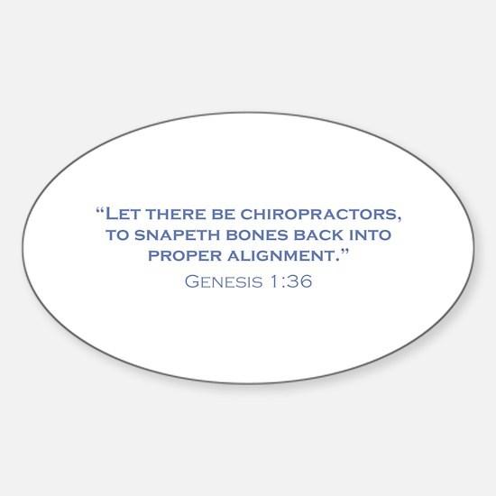 Chiropractors / Genesis Sticker (Oval)