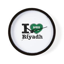 I Love Riyadh Wall Clock