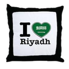 I Love Riyadh Throw Pillow