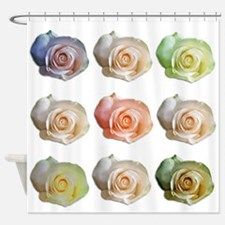 NineColoredRoses Shower Curtain