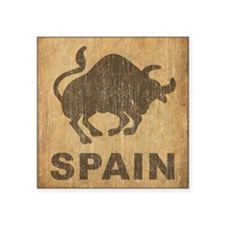 "Vintage Spain Square Sticker 3"" x 3"""