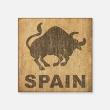 "Vintage Spain Square Sticker 3"" x 3"""