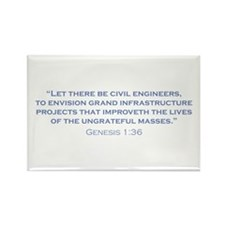 Civil Engineers / Genesis Rectangle Magnet