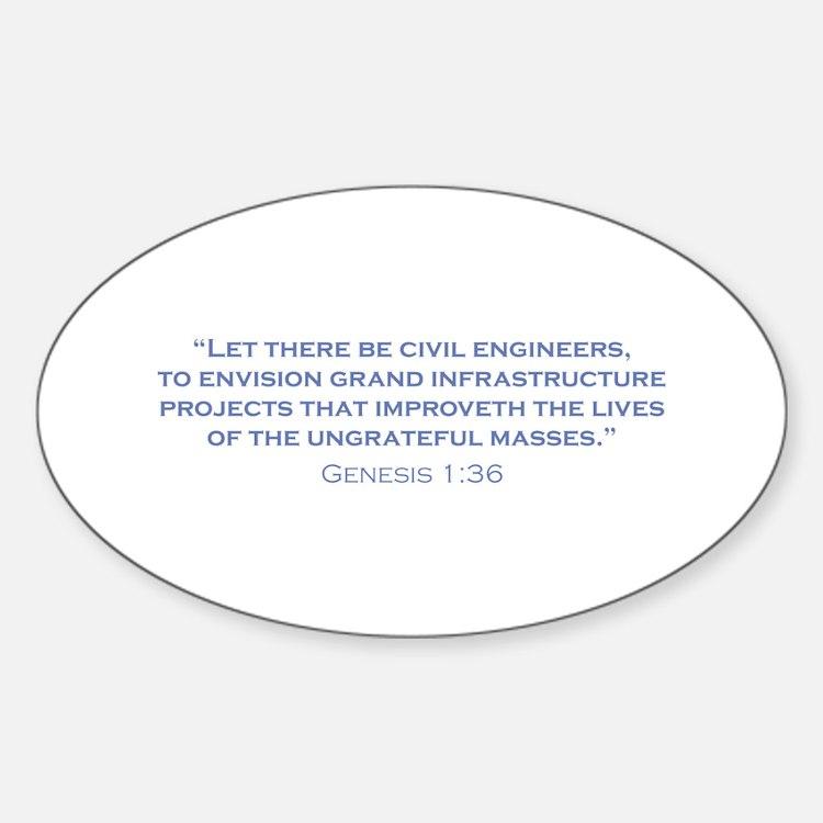 Civil Engineers / Genesis Decal