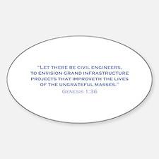 Civil Engineers / Genesis Sticker (Oval)