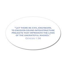 Civil Engineers / Genesis Wall Decal