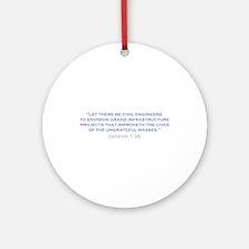 Civil Engineers / Genesis Ornament (Round)