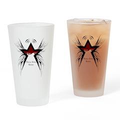 Black Star Logo White Drinking Glass