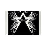 Black Star Radio Black Rectangle Magnet (100 pack)