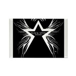 Black Star Radio Black Rectangle Magnet