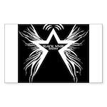 Black Star Radio Black Sticker (Rectangle)