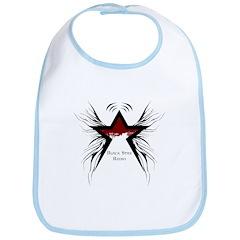 Black Star Logo White Bib