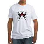 Black Star Logo White Fitted T-Shirt